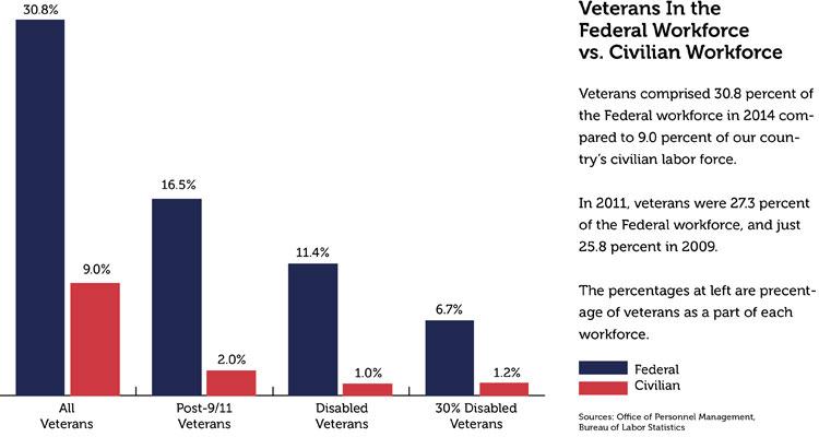 Image result for veterans in federal workforce