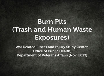 Burn Pits (Trash and Human Waste Exposures)