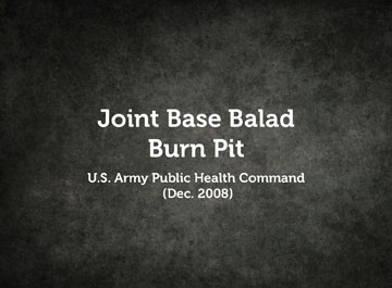 Joint Base Balad Burn Pit