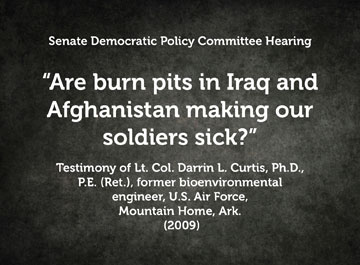 Are burn pits in Iraq and Afghanistan making our soldiers sick?